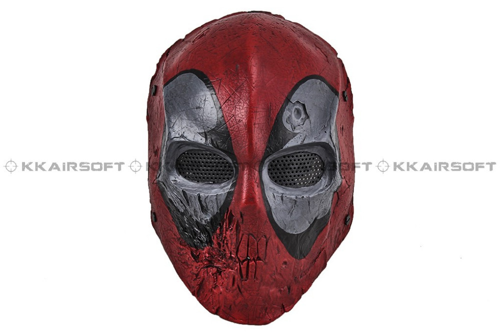 Paintball Airsoft Wire Mesh Dead Pool Army Two Full Face Mask - Feedback(355 store| Orders (1702))