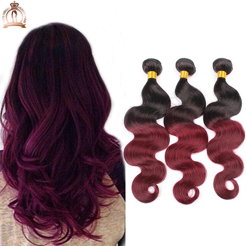 -Virgin-Hair-Dark-Ombre-Burgundy-Hair-Body-Wave-Wavy-Ombre-Hair ...