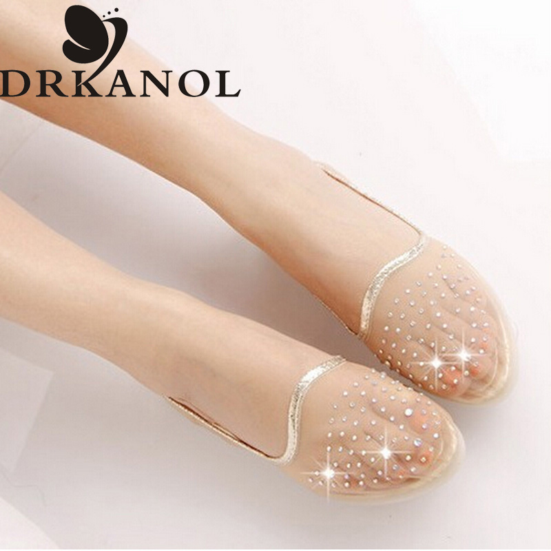Women sandals summer Melissa jelly casual shoes woman transparent air mesh rhinestone sandals slip on flats Sandalias Femininas(China (Mainland))
