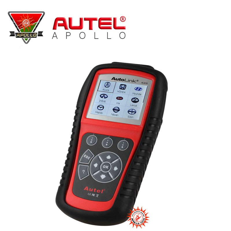 A+ Quality 100% Original Autel AL619 OBDII / CAN Scan Tool Cover ABS&SBS autolink al619 update online free shipping(China (Mainland))