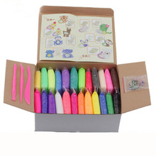 20g x 24 Colors Pearls Foam Play Doh with Tool Kit Mud Suit Handgum Clay Intelligent Plasticine Kids Educational Toys Gift 066(China (Mainland))