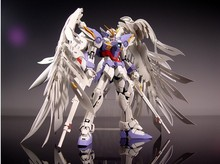 Free shipping NEW 1:100 MG 20cm Wing Zero EW high fly gundam to 1:100 angel hair loss bracket + change parts