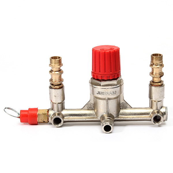 Air Compressor Double Outlet Tube Pressure Regulator Valve Holder Fitting Best Price(China (Mainland))
