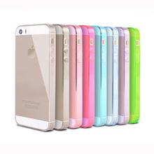 2016 new i simple luxury phone case for apple iphone 5 s transparent soft tpu waterproof cover by pink covers body accessories