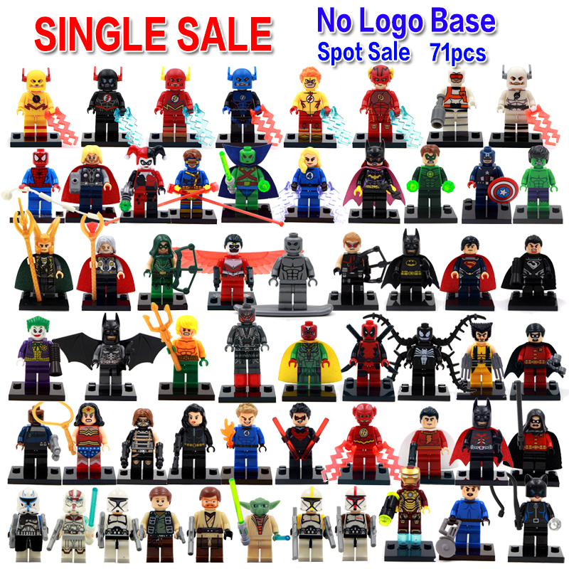 Single Sale Marvel Avengers DC Justice League Super Heroes Batman Harley Quinn Silver Surfer Building Blocks Model Bricks Toys(China (Mainland))