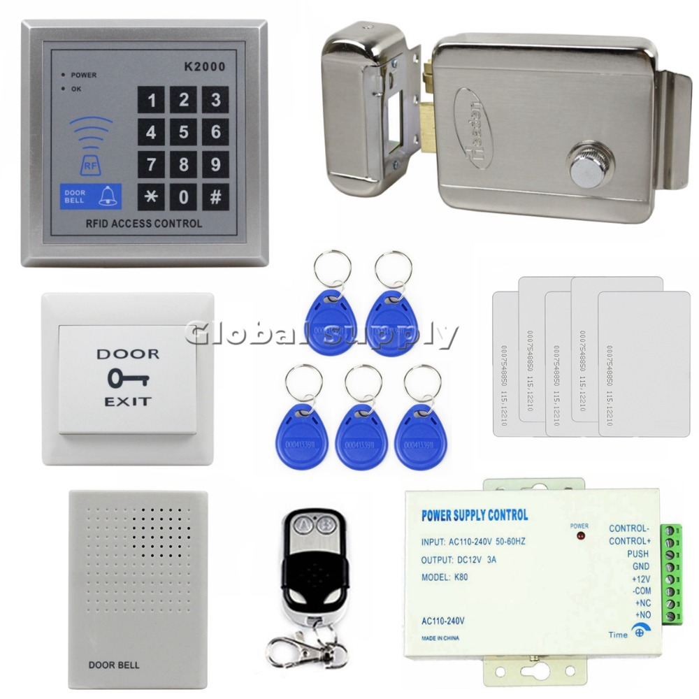 buy waterproof 125khz rfid id card reader door bell button. Black Bedroom Furniture Sets. Home Design Ideas