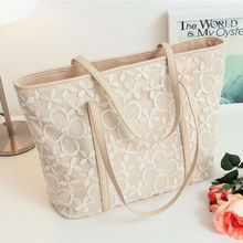 Ladybro Women Genuine Leather Handbags Mkbags Women 2015 Lace Applique Messenger Bag Made of PU Leather