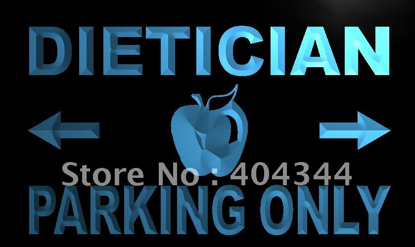 LN271- Dietician Parking Only LED Neon Light Sign home decor shop crafts(China (Mainland))