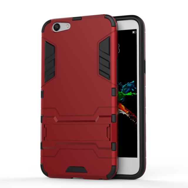 Shockproof Stand Hard Phone Cases for OPPO A59 Case Rugged Holster Cover Protect Outdoor Phone Accessories Coque(China (Mainland))