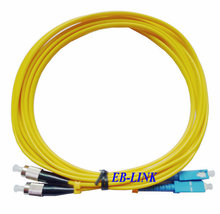Optical Fiber Patch Cord Cable,SC/PC-FC/PC,3.0mm,Singlemode 9/125,Duplex,SC FC 20Meters - Shenzhen EB-LINK Technologies Co., Ltd store