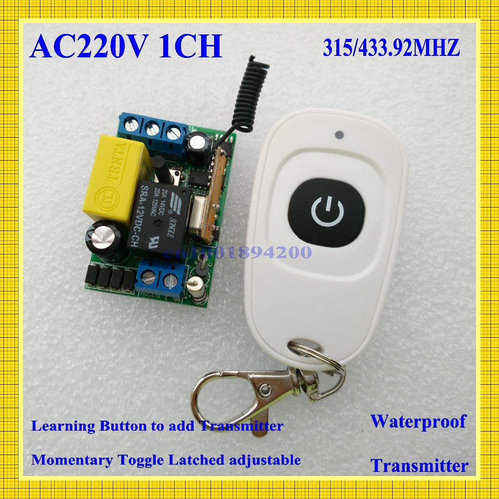 Input 220V Output 220V RF Wireless Switch 1 CH Light Lamp LED SMD Home Appliances Power Remote Switch ON OFF smart home315/433(China (Mainland))