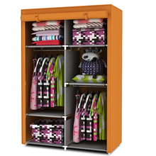 Easy folding non-woven wardrobe child combination valance wardrobe Small clothes storage cabinet(China (Mainland))
