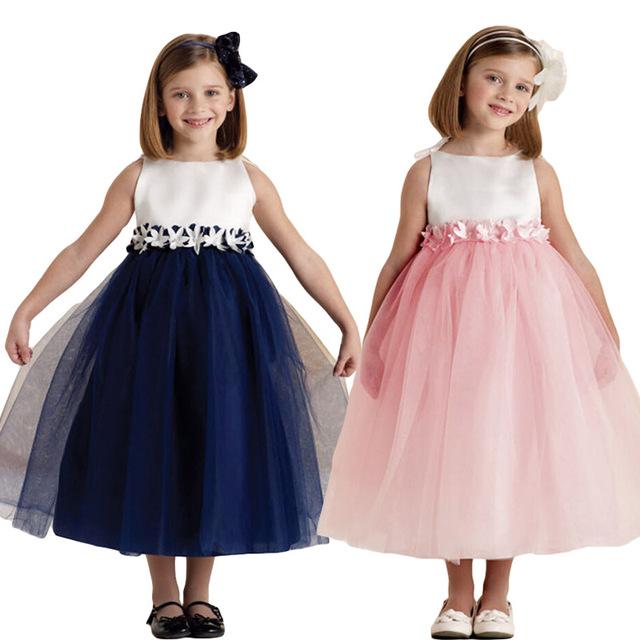 Новый 2015 летом рукавов платья для девочек одежда детская одежда мода принцесса шифоновое платье