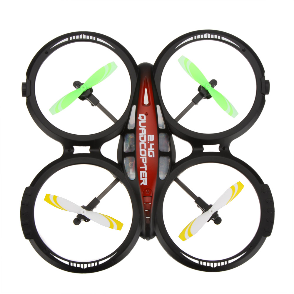 LIANSHENG LS114 4CH 2.4GHz RTF UFO Aircraft Drone Radio Control Toy RC Quadcopter w/6-Axis Gyro(China (Mainland))