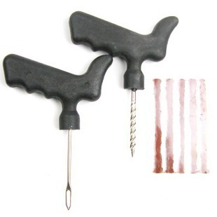 Free shipping,Car Bike Auto Tubeless Tire Tyre Puncture Plug Repair Tool Kit(China (Mainland))