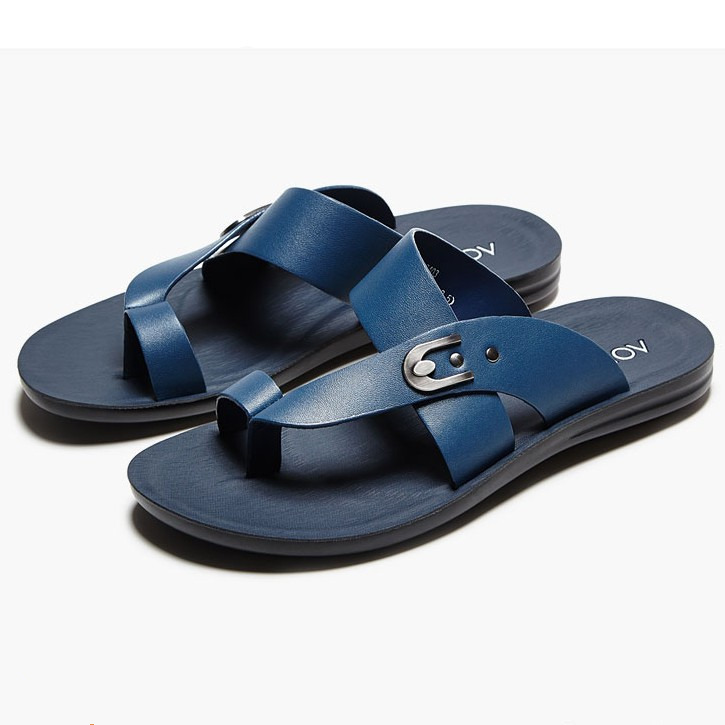 EUR 38 - 44 New REAL Leather Flip-Flops Summer Beach Sandal casual Mens slipper shoes Jorge Ten's store