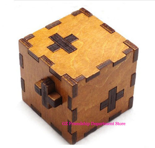 20Pcs/lot Switzerland cube Wooden Swiss Secert Puzzle Box wood brain teaser toy+Worldwide FREE shipping Drop Shipping(China (Mainland))