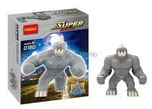 wholesale Decool 0190 Super Heroes Avengers Action Figures Building Blocks Minifigures Toy Big Lazy Rhino Figure Bricks toys