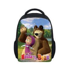 Masha and Bear Cartoon Bags Kids & Baby's Masha Printing Backpack For Children&Girls 30*25*10cm Size(China (Mainland))