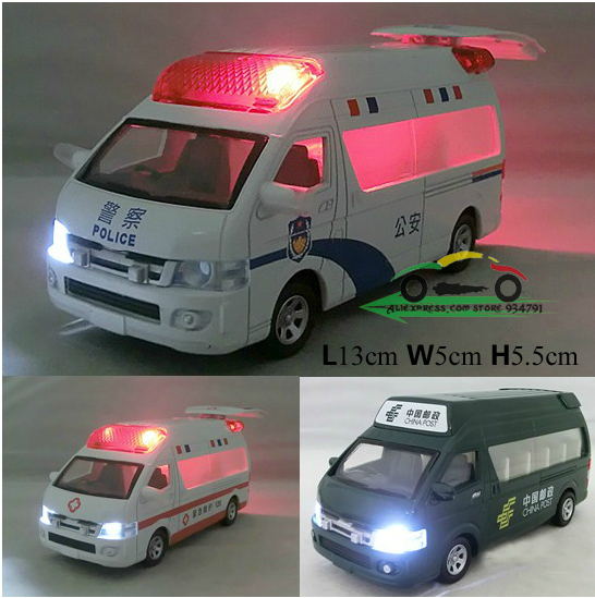 Ambulance Police Car China Post Car Kids Toys Car Classic Vintage Alloy Car Model Wholesale Free Shipping(China (Mainland))
