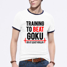 Cheap T SHIRT The Dragon Ball Z T Shirt Mens Training To Beat Goku – Krillin Cotton Casual Fashion T-shirt Tee Camiseta Clothing
