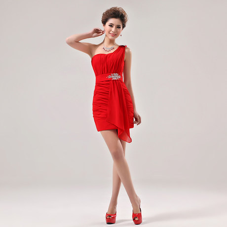 women's short red evening dress - big jessie's store