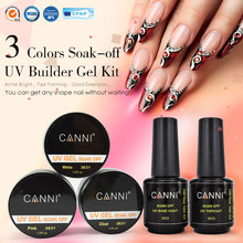 #363 French Nail Tips UV Gel Kit CANNI Brand Art Salon Clear White Pink 3 Colors Extending Builder - canni-v6 Store store