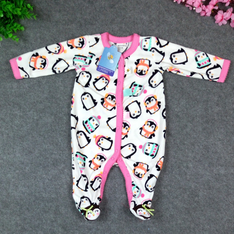 2016 Spring Autumn Newborn Baby Clothes Boys Polar Fleece Baby Rompers Girls Infantil Menino Jumpsuit Body Baby Clothes New Born(China (Mainland))