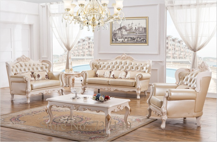 furniture sofa set solid wood and leather sofa set luxury furniture