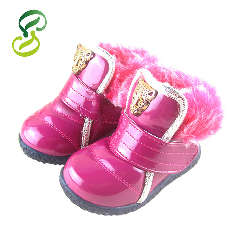 2015 Fashion Children Martin Boots Bright Japanned Motorcycle Girls Rain Boots Snow Boots PU Sneakers Kids Casual Shoes Botas(China (Mainland))