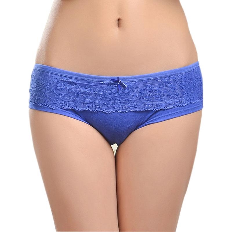 86847 Female Underwear 2014 New Lace Cotton Women's Briefs Panties