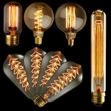 Vintage Edison Bulb Light Lamp AC 110V/220V E27 Vintage Edison Bulbs Incandescent Lamp Decor Light Bulb Wholesale Free Shipping(China (Mainland))
