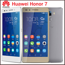 Original 5.2″ Huawei Honor 7 64GB ROM 4G LTE Mobile Cell Phone Octa Core 1920x1080p 3GB RAM 20MP Camera Android 5.0 Smartphone