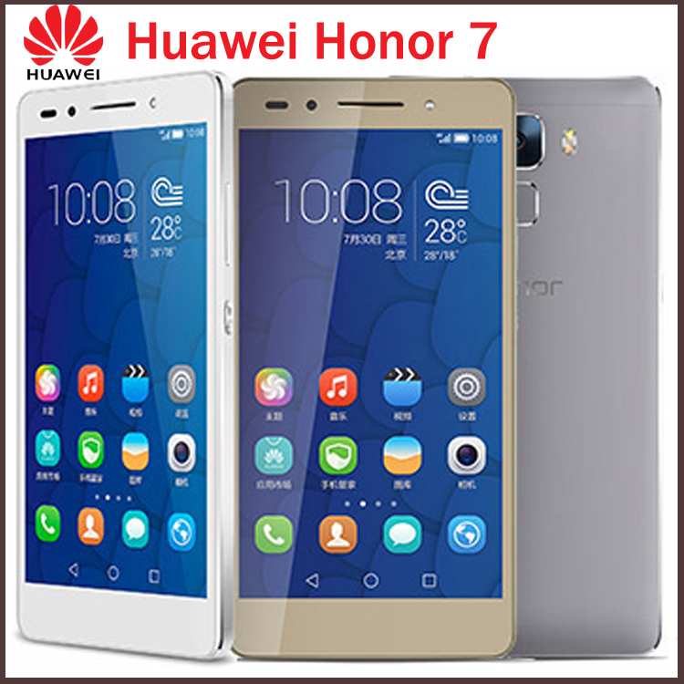 "Original 5.2"" Huawei Honor 7 64GB ROM 4G LTE Mobile Cell Phone Octa Core 1920x1080p 3GB RAM 20MP Camera Android 5.0 Smartphone(China (Mainland))"