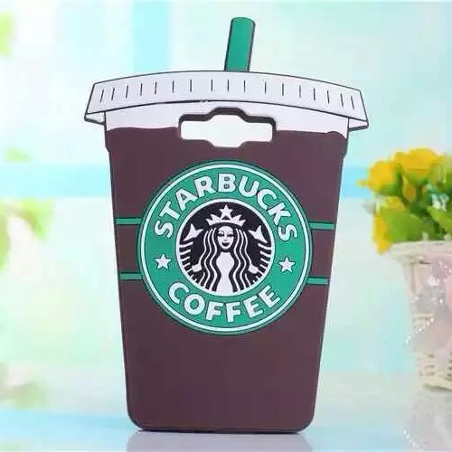 3D Starbuck Coffee Cup Model Pattern Soft Silicon Back Cover Fashion Phone Case for Samsung Galaxy A5 A7 Cheap Phone Accessories(China (Mainland))
