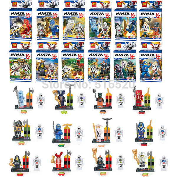 Lele78024 Plastic Building Blocks Sets Minifigures DIY Ninja Mini Figures Bricks Toys Decool Compatible