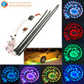 Wireless Remote Sound Control Universal Car LED Strip Light Auto Decoration Lamp Set 2 x 90CM