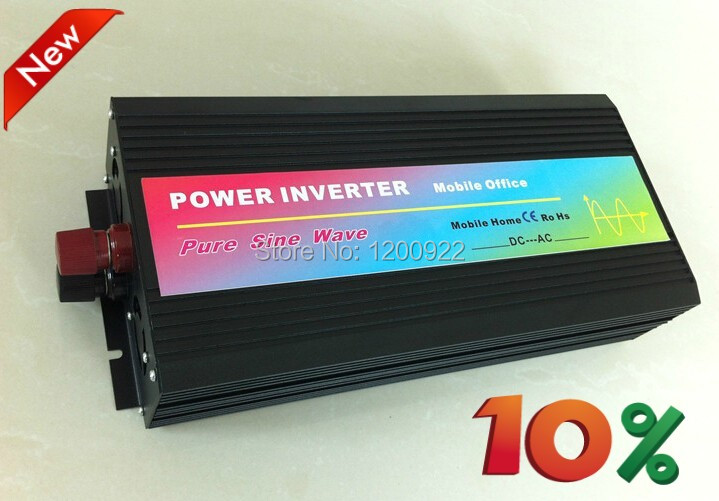 30000W 12V/24VDC to 110V/220VAC Off Grid Pure Sine Wave Single Phase Solar or Wind Power Inverter, Surge Power 6000W(China (Mainland))