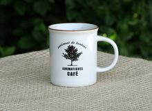 zakka Japanese grocery household items IKEA imitation enamel ceramic cup couple cups of coffee tree