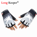 2016 New Mens Sport Gloves Semi finger Length Mittens Five Star Fingerless Fitness Gloves Gym Men