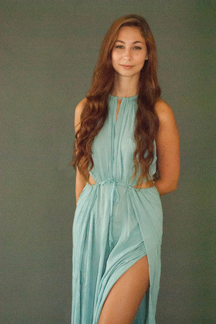 Sheinside Summer Style 2015 Beach Fashion Elegant Halter Sexy Green Spaghetti Strap Cut Out Hollow Waist Maxi Dress For Women