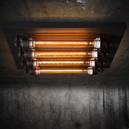 Flush mount loft style industrial vintage ceiling lights - Lamparas techo ...