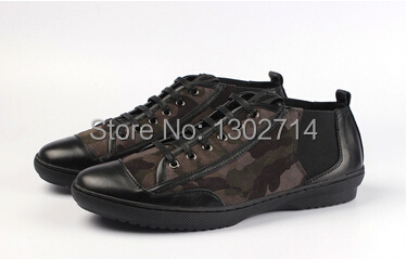 2014 New LUIS Luxury Men's Genuine Leather Flat Shoes Men Polish Handmade Sneakers Camouflage Army Designer - Bruce Fashion store