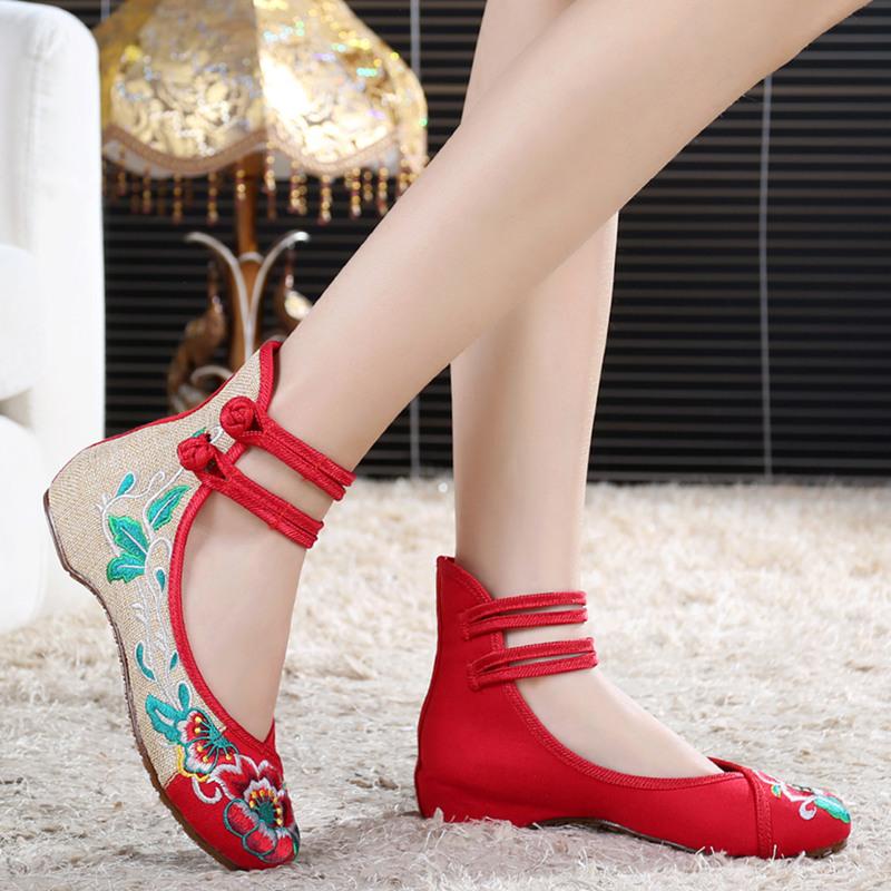 Fashion font b Women b font font b Shoes b font Old Beijing Mary Jane Flats