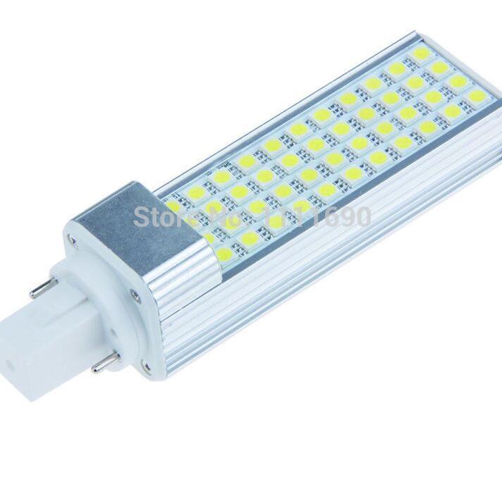 9W High brightness Horizontal LED G24 G23 E27 lampada SMD 5050 44 Led corn bulb light Wide used for table lamp Hot sale(China (Mainland))