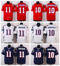 New England Patriots #11 Julian Edelman #10 Jimmy Garoppolo Elite White Red Alternate and Navy Blue Team Color(China (Mainland))