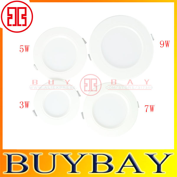 High quality Led ceiling downlight 3w 5W 7w 9w SMD2835 recessed led downlights AC220v/110v for living room, led lamp lighting<br><br>Aliexpress