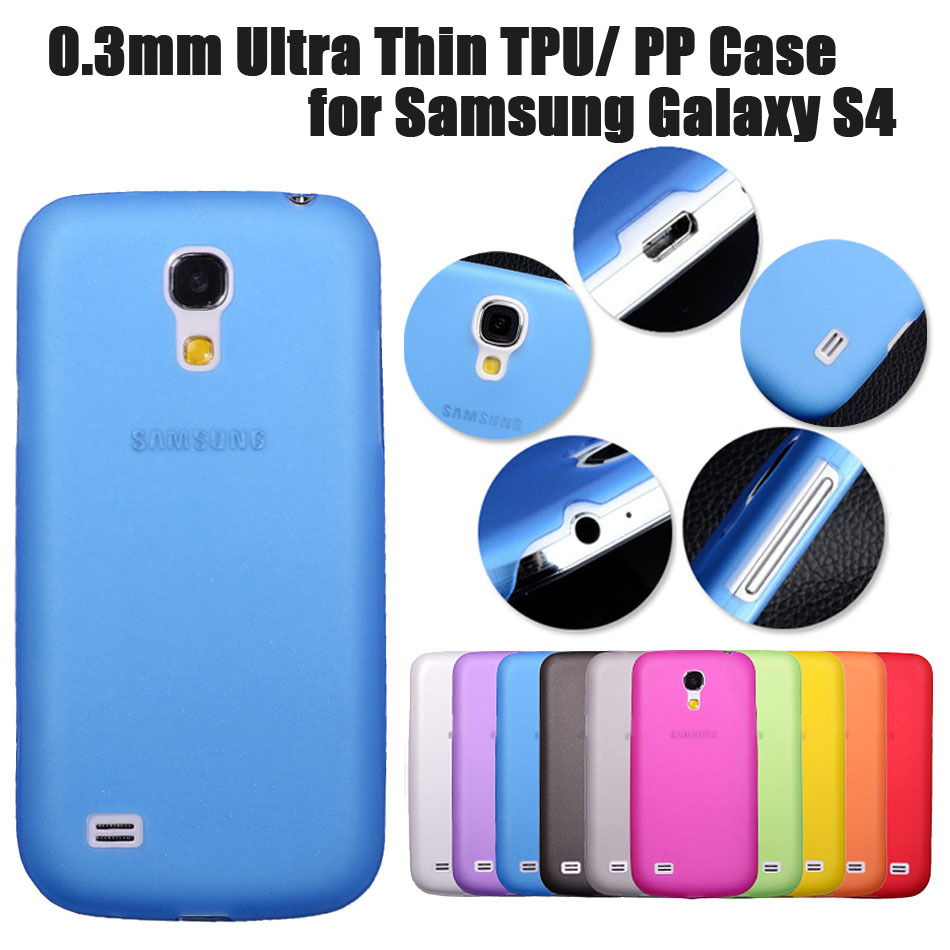 10-Color 0.3mm Ultra thin Slim Case PP Back Cover for Samsung Galaxy S4 I9500 S4 mini 9190 CAPA China Wholesale Drop Shipping(China (Mainland))