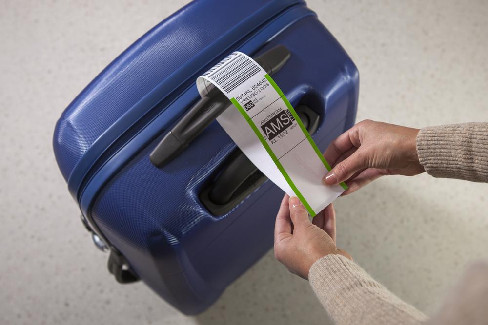Self Adhesive Labels Dricet print Airline Baggage Tags Printing(China (Mainland))