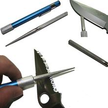 2016 Hot Sale Portable Professional Pen Shape Diamond Knife Sharpener Multi Purpose Grindstone Sharpening Stone Drop Shipping(China (Mainland))